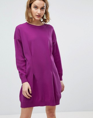 Asos Design Knitted Mini Dress in Structured Yarn