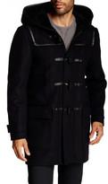 Mackage Finley Genuine Sheepskin & Leather Wool Blend Toggle Coat