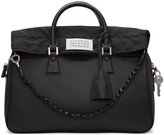Maison Margiela Black Large Exposed Lining Duffle Bag