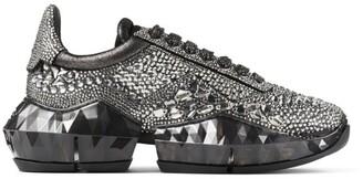 Jimmy Choo Diamond Crystal Low-Top Sneakers