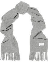 Acne Studios Canada Narrow Fringed Wool Scarf - Gray