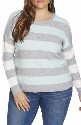 Court & Rowe Sawyer Sweater in Silver Hthr Size 1X