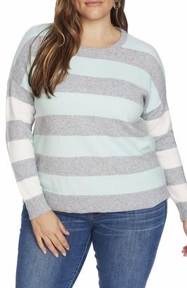Court & Rowe Sawyer Sweater in Silver Hthr Size 2X