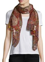 Etro Rust Coupe Psly Scarf