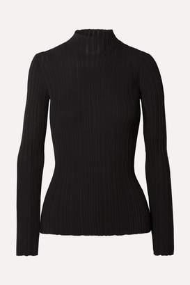 Acne Studios Kana Ribbed Cotton-blend Sweater - Black