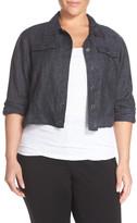 Eileen Fisher Delave Linen Crop Jacket (Plus Size)