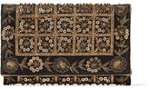 Oscar de la Renta Dede Embellished Satin Clutch - Black