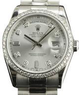 Rolex Day-Date President 36mm 118346 Platinum Diamond Watch