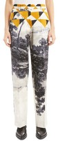 Dries Van Noten Women's Print Satin Straight Leg Pants