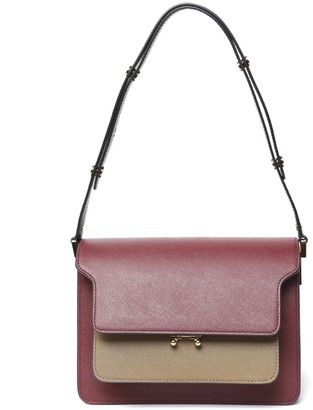 Marni Bordeaux Trunk Leather Bag