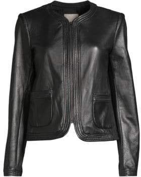 Rebecca Taylor Patch Pocket Leather Jacket