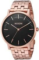 Nixon Men's 'Porter' Quartz Metal and Stainless Steel Watch