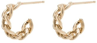 Zoë Chicco 14kt Gold Medium Chain Huggie Hoop Earrings