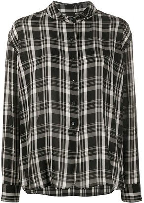 Aspesi Checkered Long Sleeve Shirt