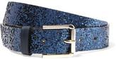 Maje Aster Glittered Leather Belt