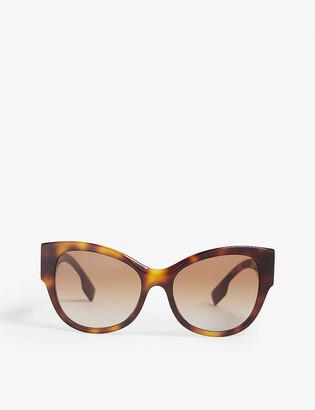 Burberry B4294 cat-eye-frame Havana sunglasses