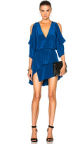Michelle Mason Open Shoulder Mini Dress