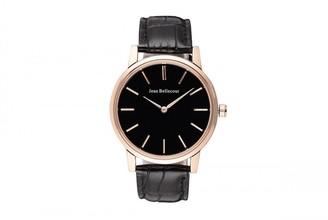 Jean Bellecour Unisex-Adult Analogue Classic Quartz Watch with Leather Strap REDG2