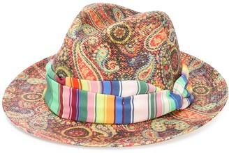 Etro paisley print Panama hat