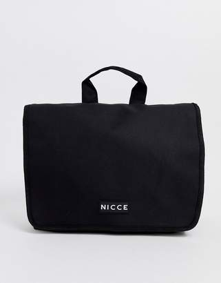 Nicce cross body messenger bag in black