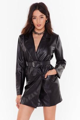 Nasty Gal Womens Atomic Faux Leather Blazer Dress - Black - 4