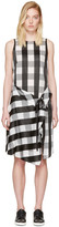 Rag & Bone Black and White Check Brighton Dress