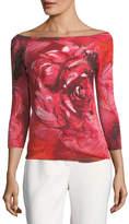 Fuzzi Floral-Print Off-the-Shoulder Top