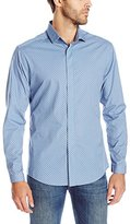 Vince Camuto Men's Hidden Placket Spread Collar Shirt