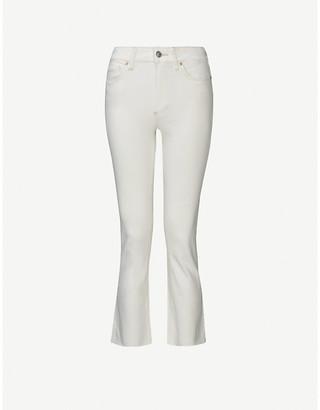 Paige Colette Crop Flare high-rise stretch-denim jeans