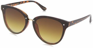 Laundry by Design Women's Ld276 Ts Non-Polarized Iridium Round Sunglasses