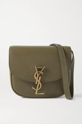 Saint Laurent Kaia Small Leather Shoulder Bag - Army green