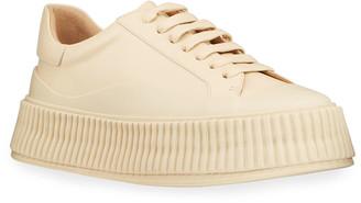 Jil Sander Rubber Low-Top Sneakers