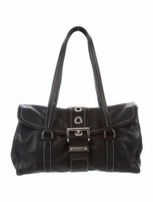Prada Royal Calf Shoulder Bag Black