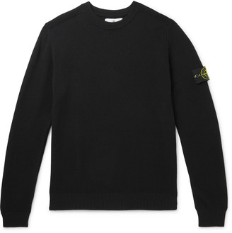 Stone Island Logo-Appliqued Wool Sweater