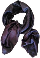 Louis Vuitton ChAle Monogram shine Purple Silk Scarves