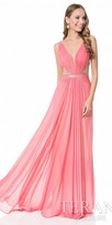 Terani Couture Gathered Halter Prom Dress