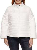 Liz Claiborne Puffer Swing Coat-Plus Jacket