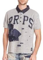 PRPS Jabo Denim Patched Polo Shirt