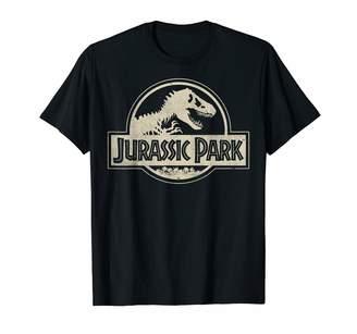 Fossil Jurassic Park Distressed Beige Flat Logo T-Shirt