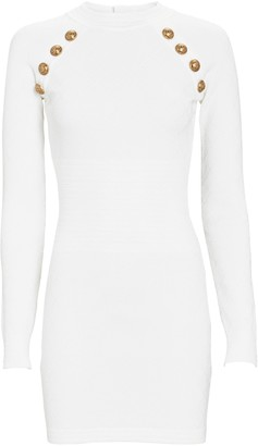 Balmain Diamond Knit Mini Dress