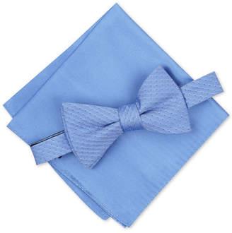Alfani Men Mini Neat To-Tie Bow Tie & Solid Pocket Square Set
