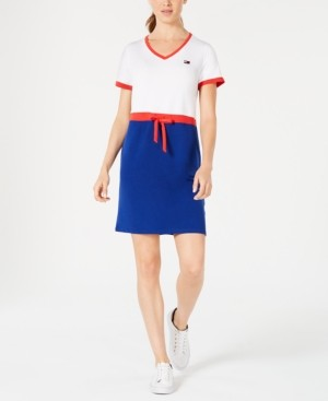 Tommy Hilfiger Drawstring T-Shirt Dress