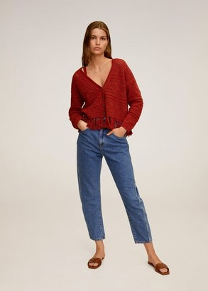 MANGO Cotton crochet cardigan