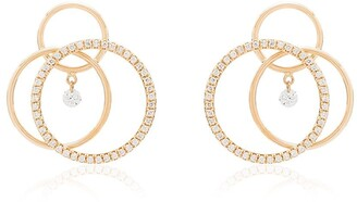 PERSÉE 18kt Yellow Gold Triple-Circle Hoop Earrings