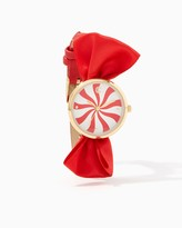 Charming charlie Peppermint Swirl Bow Watch