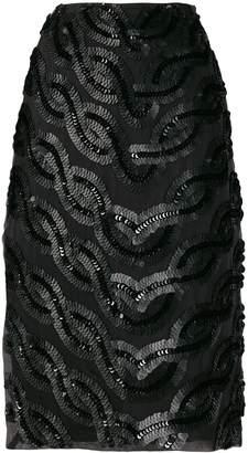 Cavallini Erika side-slit embellished skirt
