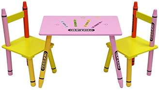 Kiddi Style Childrens Wooden Table and Chair SetPink