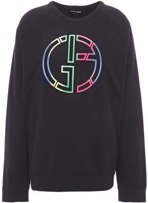Giorgio Armani Appliqued Stretch-cotton Jersey Sweatshirt