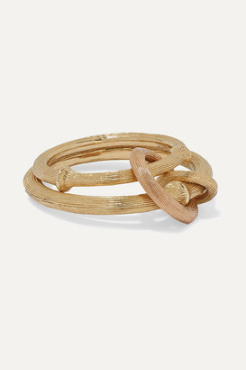 OLE LYNGGAARD COPENHAGEN Nature 18-karat Yellow And Rose Gold Ring