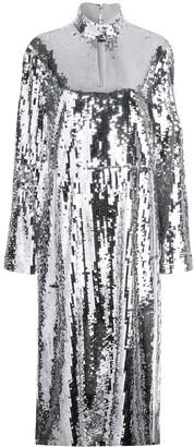 Tibi Avril sequinned midi dress